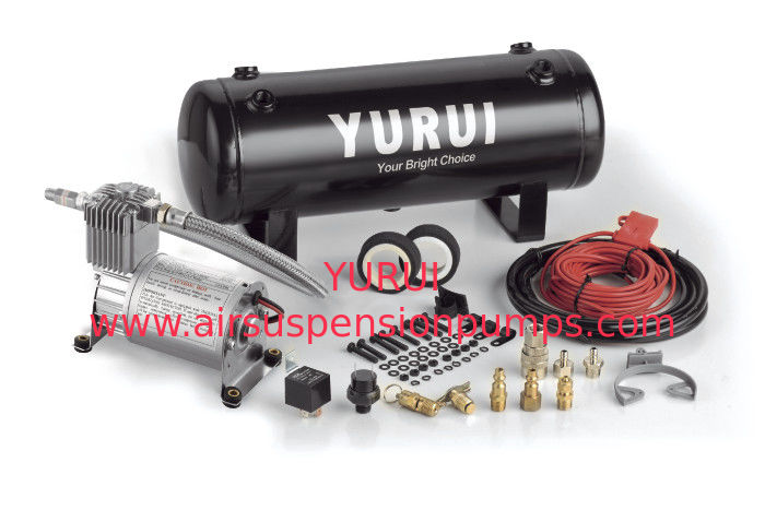 Duty Cycle Onboard Air Suspension Pump Compressor 1.0 Gallon Tank For Tuning And Pneumatic Needs