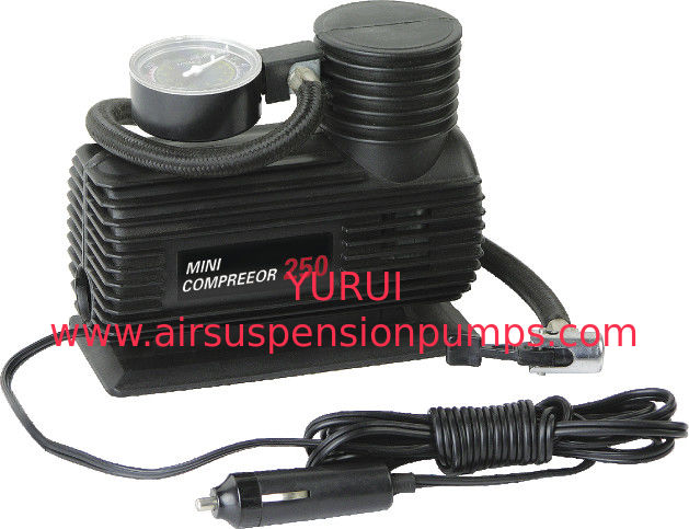 Mini Plastic Portable Electric Air Compressor For Car Tires With Black Handy