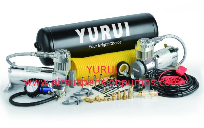 YURUI Heavy Duty  Dual Yon High Output Air Compressor Air Systems 2.5 Gallon Tank 200 PSI Strong