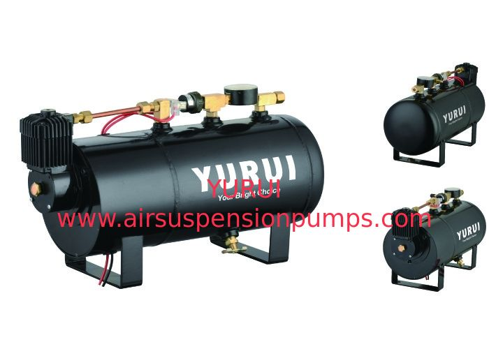 Durable Black Small 2 In 1 Air Lift Suspension Compressor With 1.0 Gallon Air Tank