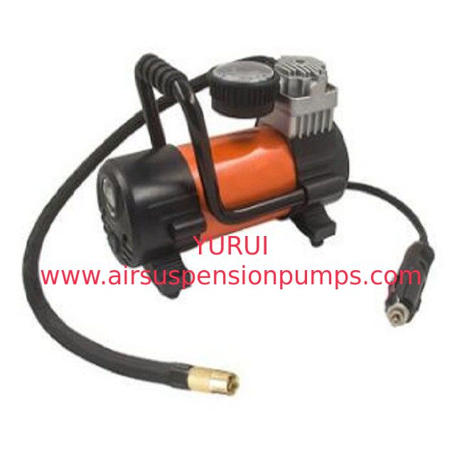 Orange 12 Volts Car Portable Air Compressor 150w Ce Rohs Certification