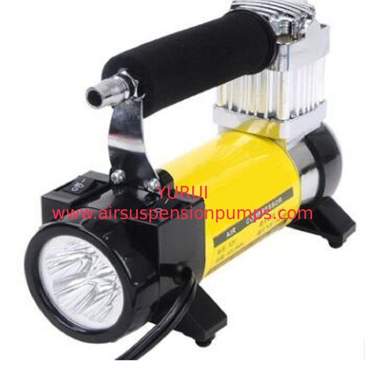 Yellow High Volume 12v Shock Air Compressor Three In One Shock Air Compressor