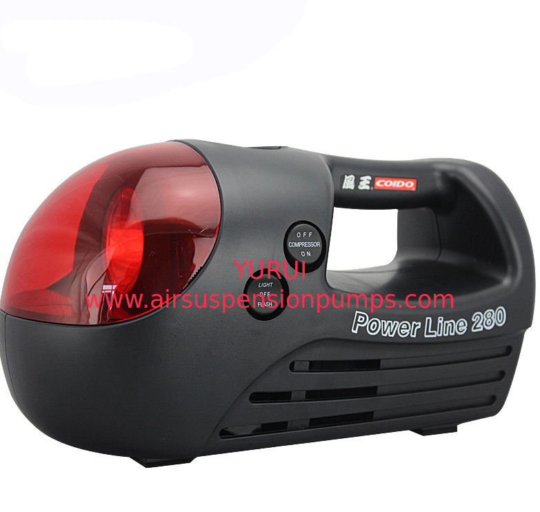 Black And Red Portable Air Compressor For Car Three In One Type 12v 280 Psi