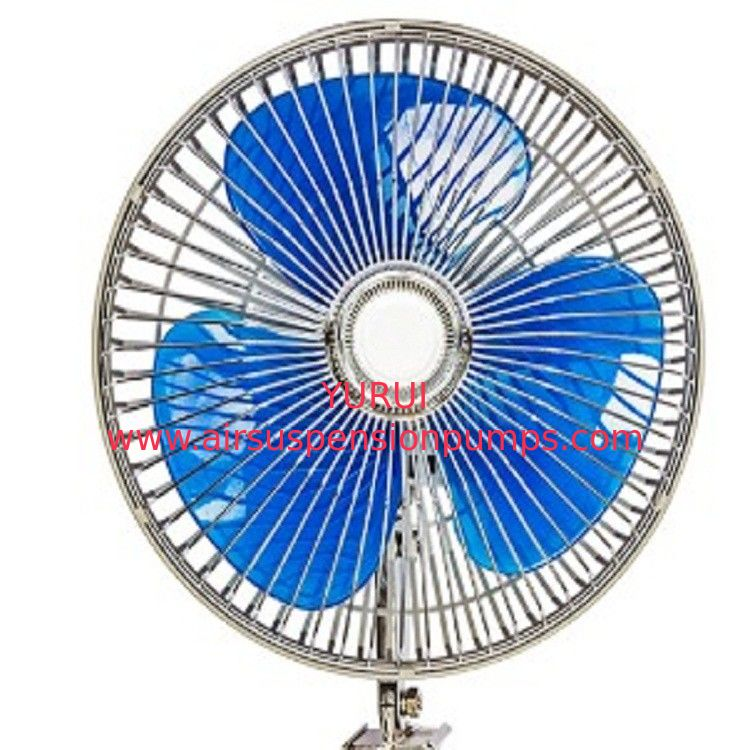 12v / 24v Car Cooling Fan 8 Inch Oscillating Fan With Full Safety Metal Guard