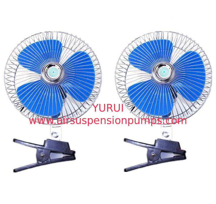 Blue And Silver Automotive Cooling Fans / Metal And Plastic Electric Radiator Fan