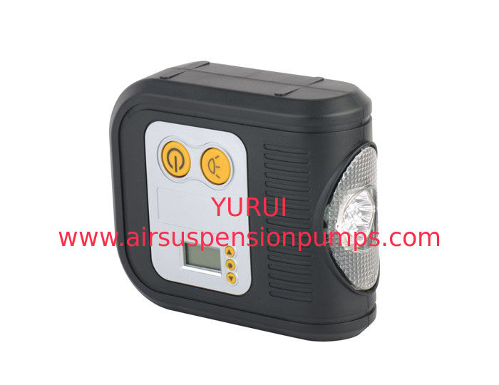 Digital Display Portable Air Pump For Car / 10 Bar Auto Air Pump With Light