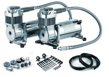 12V Dual 200 PSI Steel Air Ride Zawieszenie Kompresor sprężarka podwójna zbiornik powietrza